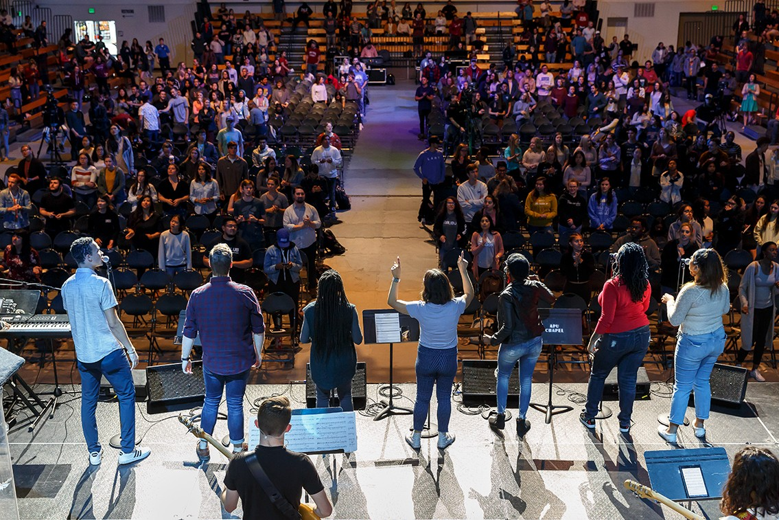 APU's music and worship major gives students a broad perspective in the field of music ministry and consists of academic preparation in music, Christian ministry, and practical theology.
